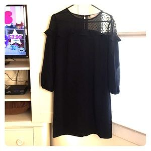 Loft black shift dress